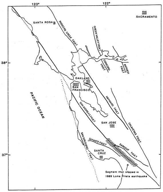 Earthquake Epicenter Map Of California