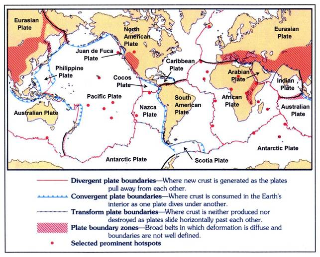 PLATE PUZZLE - Map of us plate boundaries