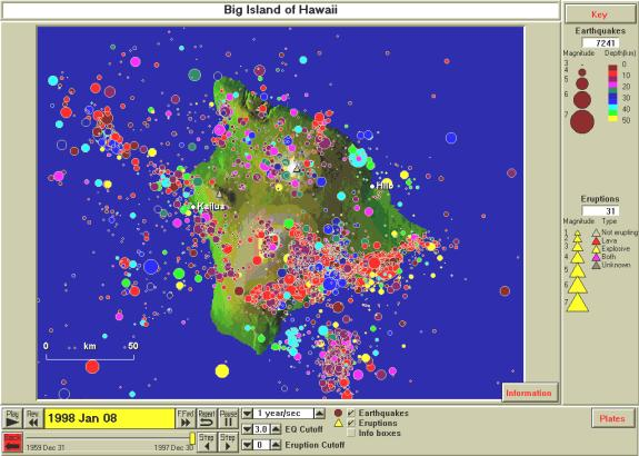 Figure 11 8 Earthquakes 1960 1997 M3 For Theisland