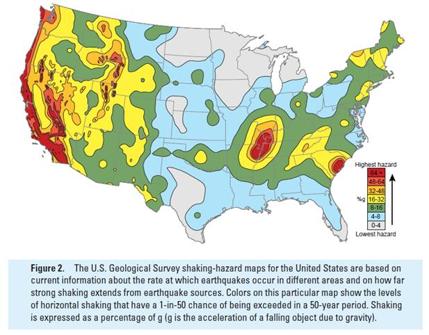 Midwest Earthquakes - Earthquake map us