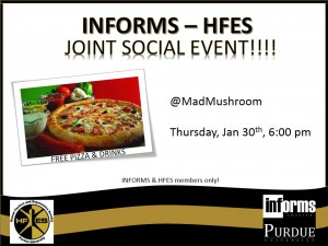 Thursday, January 30th, 6:00 pmm MadMushroom.