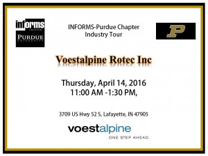 14 April Industry tour: Voestalpine Rotec Inc