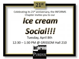 INFORMS Hangout, 12:30, GRIS 210 Friday April 4!