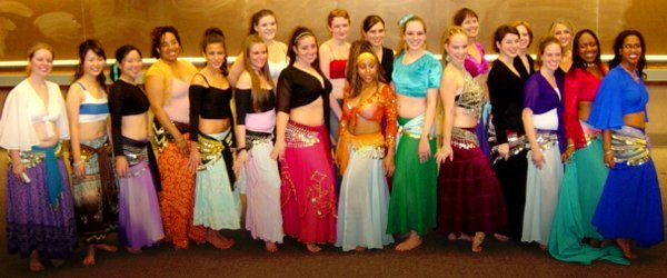 Mirage Bellydancers group photo.