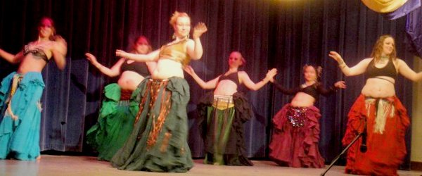 Mirage Bellydancers stage performance.